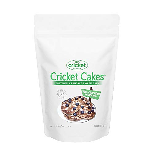 Cricket Flour: All Purpose Baking Flour 12oz (Blended Mix) – Made in Portland, Oregon with High Protein Cricket Protein Powder. Great for Edible Insects Baking Recipes by Cricket Flours