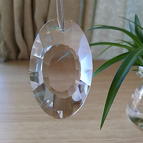 JIUXIAO 40Pcs 76Mm Colgantes de Cristal para candelabros Luces de araña de Techo de Cristal de Lujo