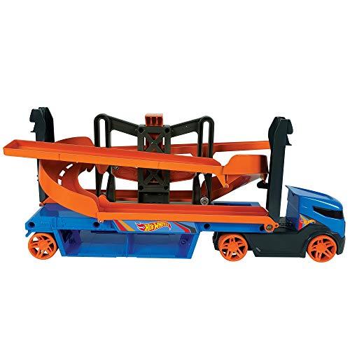 Hot Wheels GNM62 - Hot Wheels Mega Action Transporter mit 1 Hot Wheels Fahrzeug, für Kinder ab 3 Jahren
