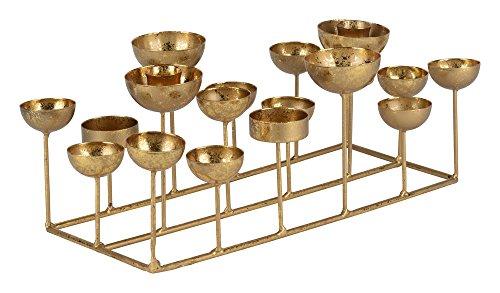 Gift Company - Kerzenhalter Medusa S - rechteckig - Gold - Metall - 33,5x12x18 cm