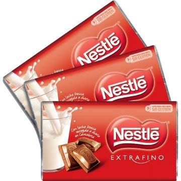 Nestlé Mini Tabletas - Chocolatinas chocolate con leche - Pack 24 x 20 gr
