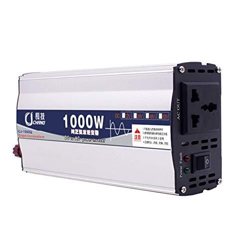 Inversor de onda sinusoidal pura de alta potencia 12V 24V 48V 60V a 220V 600W, 1000W, 2000W, 3000W, 4000W, 5000W, 6000W Transformador doméstico Inversor de corriente para automóvil con pantalla digit