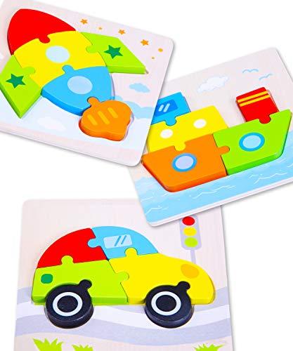 Jaques von London lasst Uns Transport Spielen Holz Puzzle ab 2 3 4 5 Jahre – Ideal holzspielzeug Puzzle - Qualität Holz Spielzeug , traditionelle Spiele und Spielzeug ab 2 3 4 5 Jahre seit 1795