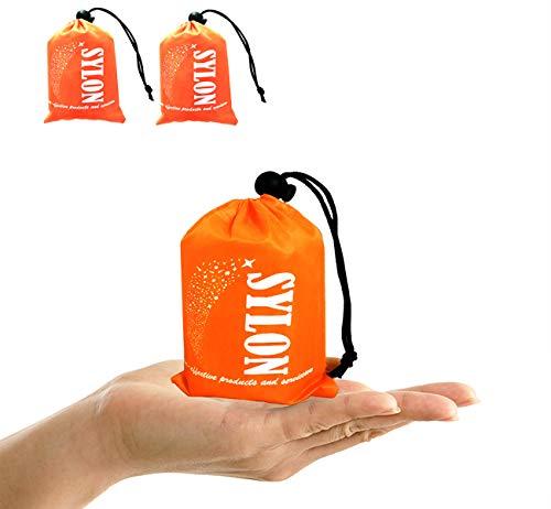 Sacco a Pelo d\'Emergenza,Coperta di Sopravvivenza Riutilizzabile Isolamento Termico Esterno Arancione Interno Rinfrangente 2 pacchi