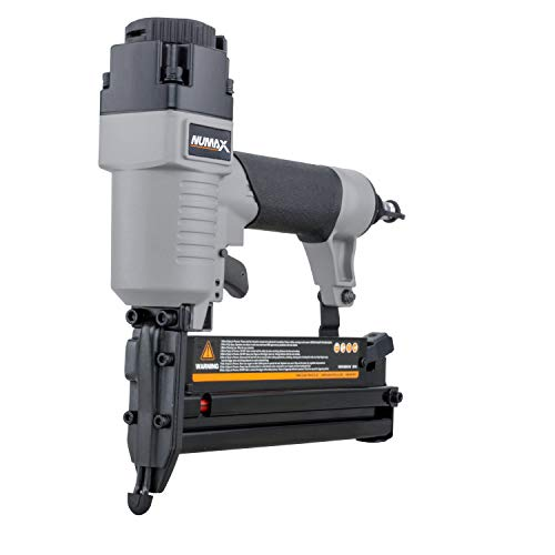 NuMax S2-118G2 Pneumatic 2-in-1 18-Gauge 2' Brad Nailer and Stapler Ergonomic and Lightweight Combo Brad and Staple Gun with Tool-Free Finger Depth Adjust