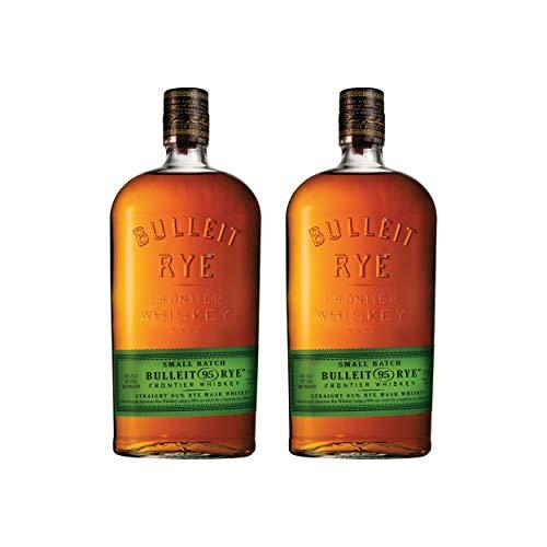 Bulleit 95 Rye Frontier Whiskey, 2er Set, Whisky, Alkohol, Alkoholgetränk, Flasche, 45%,2 x 700 ml