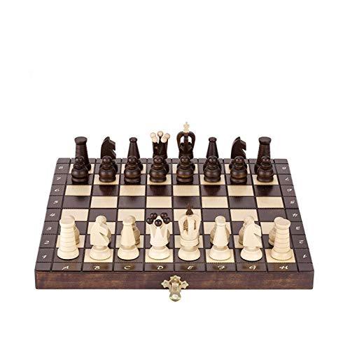 WANGZHI Juego de ajedrez de Madera Juegos de Placa Plegable Artesanal para Adolescentes Juego de ajedrez Profesional de Lujo Juego de Mesa de Lujo