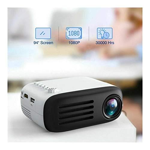 ZQALOVE Neueste 3D Mini-Projektor-Unterstützungs-TF-Karte AV USB HDMI 7000 Lumen 1080P Video Home Cinema Theater Multimedia Beamer Projektor (Plugs Type : EU)