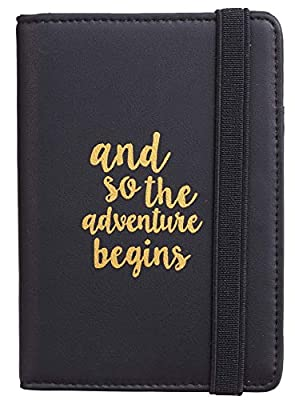 Casmonal Passport Holder Cover Wallet RFID Blocking Leather Card Case Travel Document Organizer(Newcastle Black Gentleman)