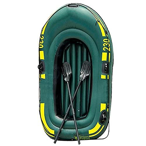 LANGTAOSHA Gommone per 2 Persone, Gommone Gonfiabile con Remi E Pompa Ad Aria, Kayak Gonfiabile in PVC Canoa Barca A...