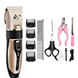 <span class='highlight'><span class='highlight'>Hearthrousy</span></span> Dog and Cat Shearing Machine Adjustable Pet Hair Trimmer Dog Clipper Set Low Noise USB Rechargeable Animal Hair Clipper for All Pet