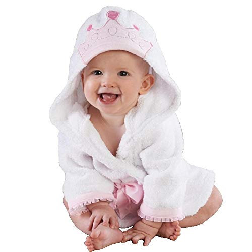 Hooyi Baby Little Princess - Albornoz con capucha para spa