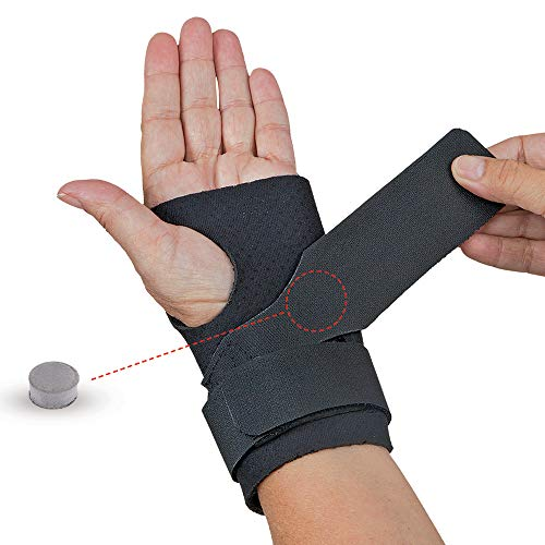 Comfort Cool Ulnar Booster Support Provides Compression for Ulnar Sided Wrist Pain. TFCC Tear Triangular Fibro-Cartilage Complex Injuries, Tendonitis or Repetitive Use Injury. Left Small in Black