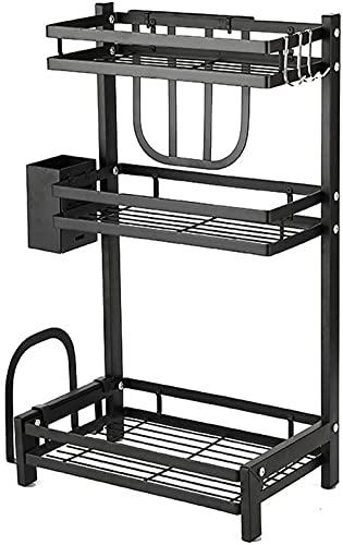 Organizador de especias para cocina, acero inoxidable, estante de almacenamiento con soporte para cuchillos desmontable, soporte para tabla de cortar