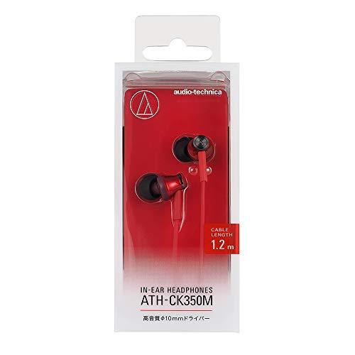 audio-technicaカナル型イヤホンレッドATH-CK350MRD