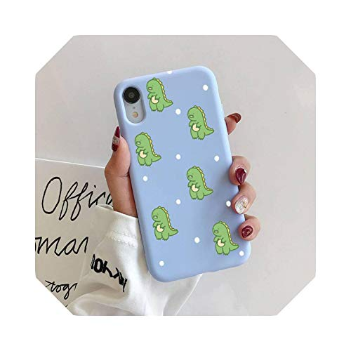 Cute dinosaurio - Carcasa de silicona para iPhone 11 Pro Max XR XS X Soft Candy Cover for iPhone 6 6S 7 8 Plus Cases-A4-For iPhone11