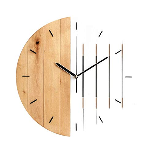 SMEJS Reloj de Pared Reloj Moderno diseño Vintage rústico rústico Reloj Tranquilo Arte Reloj decoración casera (Color : C)