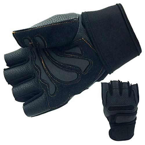 Outdoor Reiten Halbfingerhandschuhe Rennsport Off Road Motorrad Handschuhe Slip Sport Einfache Fitness Handschuhe (Color : Schwarz, Size : One Size)