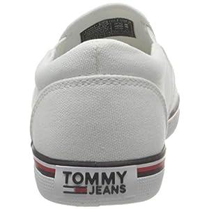 Tommy Jeans Essential Slip ON Sneaker, Zapatillas Bajas Mujer, Blanco, 35 EU