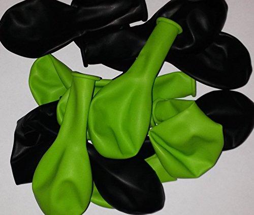 Globos Festival 50 Pistazie grün schwarz Latex Luftballon Geburtstag Hochzeit Durchmesser 25 cm vom Sachsen Versand
