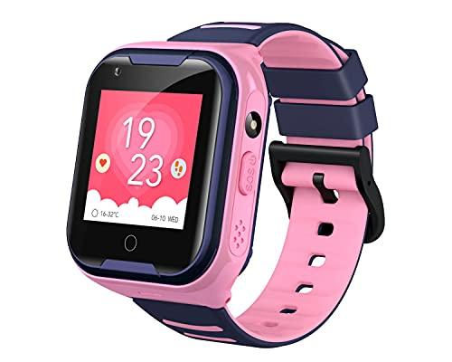 Relógio SmartWatch Infantil com Vídeo Chamada Ligação GPS de Rastreamento 36pro com Câmera Embutida Original da LEMFO (ROSA)