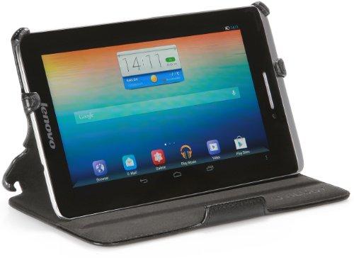 StilGut UltraSlim Hülle, Tasche für Lenovo Tablet S5000 und IdeaTab S5000 mit Standfunktion, Schwarz