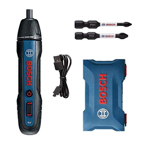 Upgrade Für Bosch Go 2. Generation 3.6 V Smart Cordless Akkuschrauber Set, Professional Blau Akku Schrauber Mini Elektrisches Schraubenwerkzeug, Push Drive Screwdriver mit Treiberbit PH1 PH2