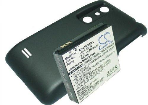 CS batería 2600mAh 9.62WH 3.7V compatible con LG Optimus 3d, P920//equivalente a LG LGFL-53HN, SBPL0103001