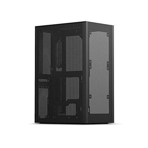 SSUPD mini-ITXフォームファクタ対応 ATX/SFX電源搭載可能 メッシュパネル PCケース MESHLICIOUS BLACK 日本正規代理店品