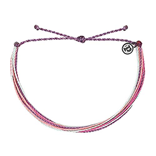Pura Vida Originals Purple Peak Anklet - Plated Charm, Adjustable Band - 100% Waterproof
