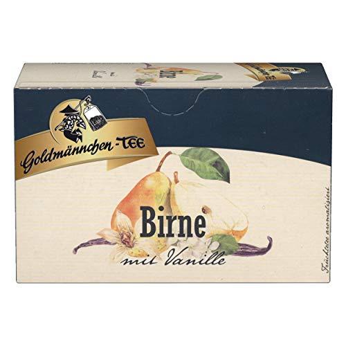 Goldmännchen Tee Birne mit Vanille, Früchtetee, 20 einzeln versiegelte Teebeutel