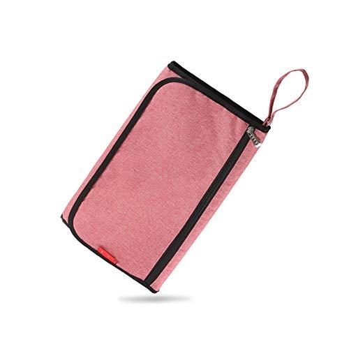 WangQianNan Plegable Recién Nacido Viaje Multifuncional Impermeable Portátil Pañal Bolsa Bebé Cambio de Mesa Cojín Plegable Esenciales de Viaje (Color : Red)