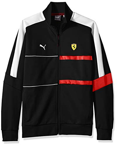 PUMA Mens Scuderia Ferrari T7 Track Jacket, Large, Ferrari Black