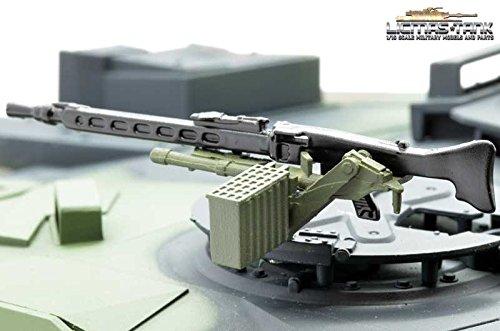 Bundeswehr MG3 aus Metall mit Lafette und Gurtkasten lackiert Maßstab 1:16
