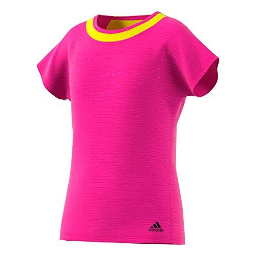adidas Camiseta para niña Dotty de Color Rosa, Amarillo limón, 164