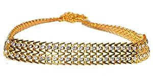 Jewels Kafe Wedding Kamar Bandh Gold Plated Belly Chain Kamarband for Women