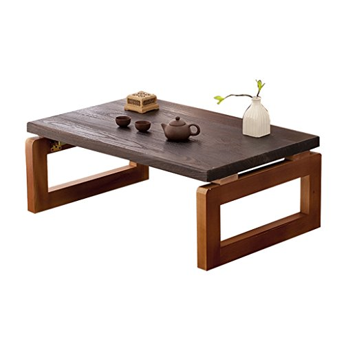 Brilliant firm Mesas Mesas de Comedor Kang Mesa de Tatami Mesa de té Mesa de Ventana de Madera Mesa de Mesa Japonesa Enano Mesa de Centro Mesa pequeña (Color : Walnut, Size : 60 * 40 * 30cm)