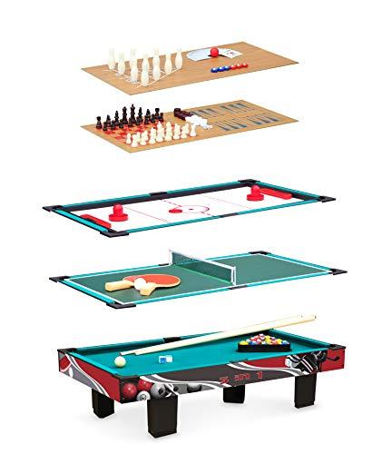 Small Foot 11278 Multifunktionstisch 9 in 1 aus Holz inkl. Zubehör, Set mit neun Spielen und fünf verschiedenen Spielplatten, ab 5 Jahre Spielzeug, Mehrfarbig