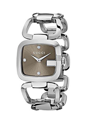 Gucci YA125401 - Reloj de Cuarzo para Mujer, Correa de Acero