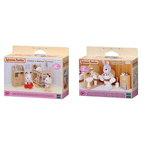 Sylvanian Families Children's Bedroom Furniture & Families 5020 Toiletten Set und Accessories, 10,3 x 3,4 x 8 cm