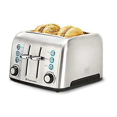 Toastmaster TM-43TS 4 Slice Toaster, Stainless Steel