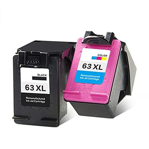 YXYX Tóner compatible con HP63XL, repuesto para HP Deskjet 1110, 1111, 1112, 2130, 2131, 3630, 3632, 4520, 4650 y 5740, conductor láser de alta fidelidad
