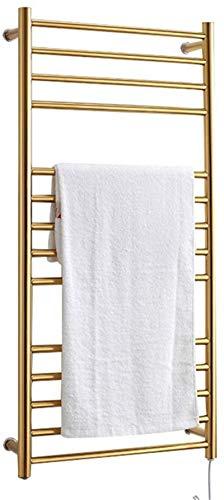 Toallero calentador de toallas dorado, calentador de toallas eléctrico, toallero eléctrico montado en la pared, calentador de toallas eléctrico de última generación (tamaño: enchufe)