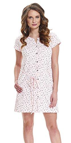 DN, Nachthemd, TCB.9448, Light-pink, Gr. L/Umstandsnachthemd/Stillnachthemd/Nachthemd für Schwangere, Baumwolle