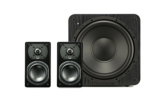 SVS Prime Satellite Speakers (Pair) with Subwoofer (Premium Black Ash)