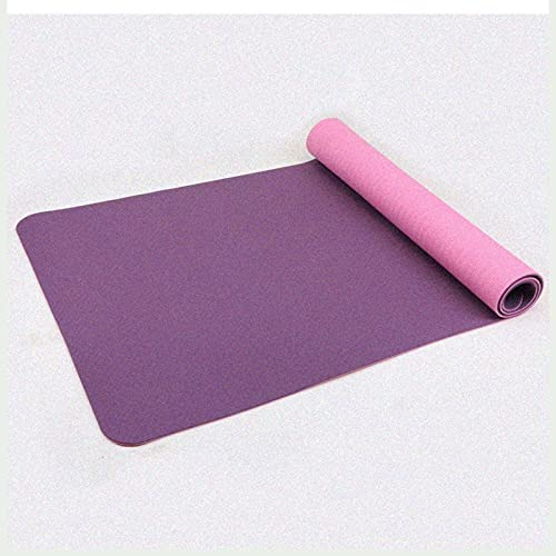 N\C Esterilla de Yoga TPE Antideslizante de Dos Colores respetuosa con el Medio Ambiente con un Grosor de 6 mm y un tamaño de 183 cm x 80 cm, con Fuerte Resistencia al desgarro y Agarre