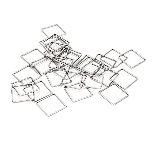 Hztyyier 30 Piezas de Pendientes de aro de Cuentas, Conectores de Pendientes de Marco Cuadrado para Pendientes de Bricolaje, Collar, Pulsera, fabricación de Joyas artesanales