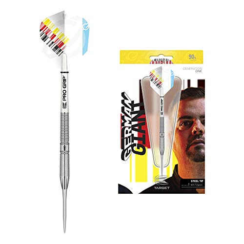 Target Darts Gabriel Clemens 21G 90% Tungsten Steel Tip Darts Set Dardos de Punta de Acero, Plata, 21 g