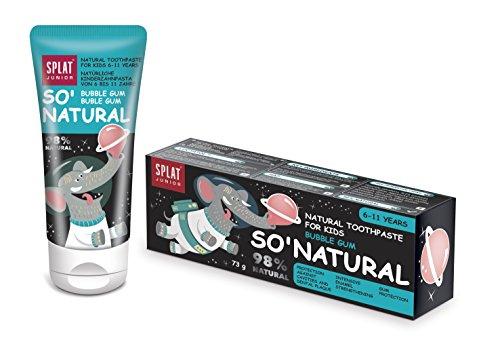 SPLAT JUNIOR Natuurlijke tandpasta Bubble Gum voor kinderen van 6-11 jaar 55ml