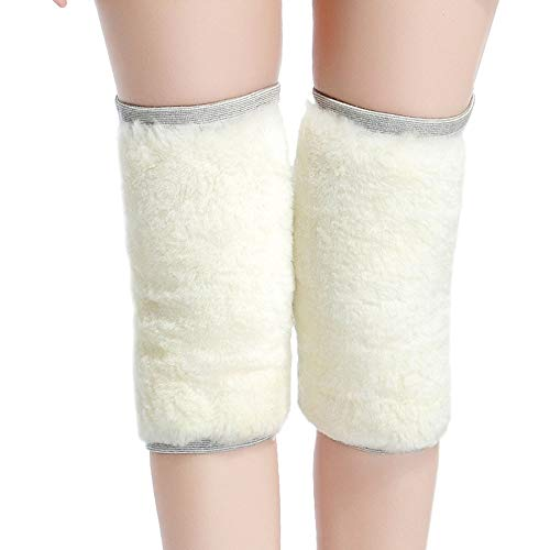 Extra dikke anti-koude kniebeschermers, winterwol, kniebeschermers, warmte-opslag om warm te blijven en pijn te verlichten, 2 stuks